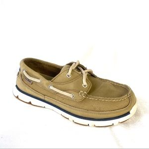 L. L. Bean Tan Lace Up Boat Shoe Sneaker